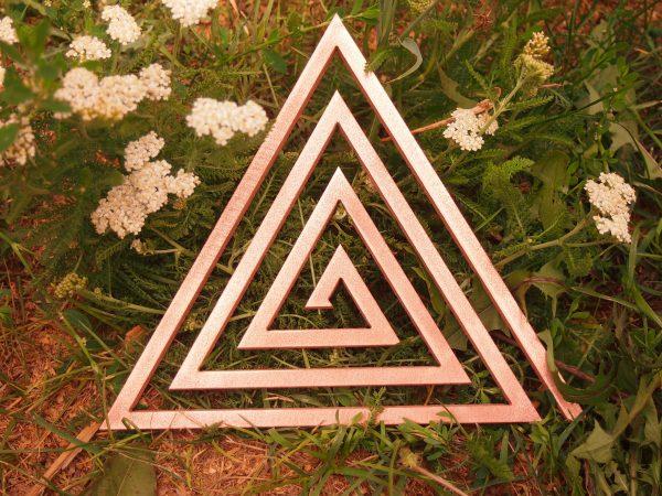 Треугольная медная спираль без биджа мантры. 6 дюймов